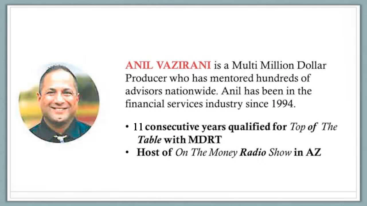 Anil Vazirani - Financial Advisor